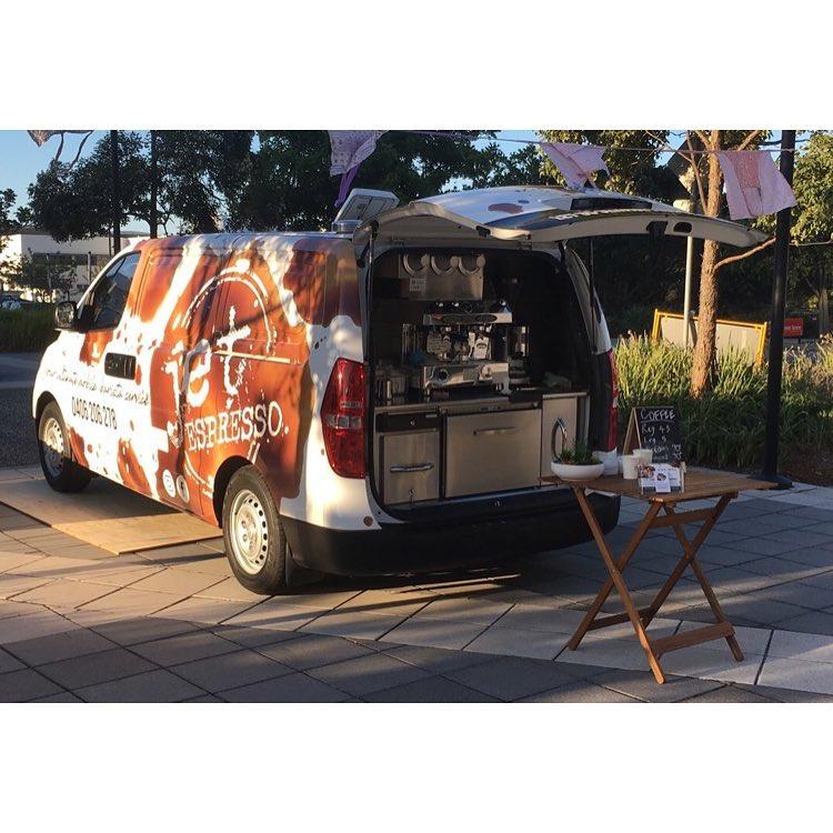 The Jet Espresso coffee car in full swing!