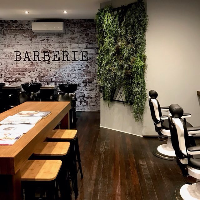 The Barberie Coogee team has their logo proudly displayed!