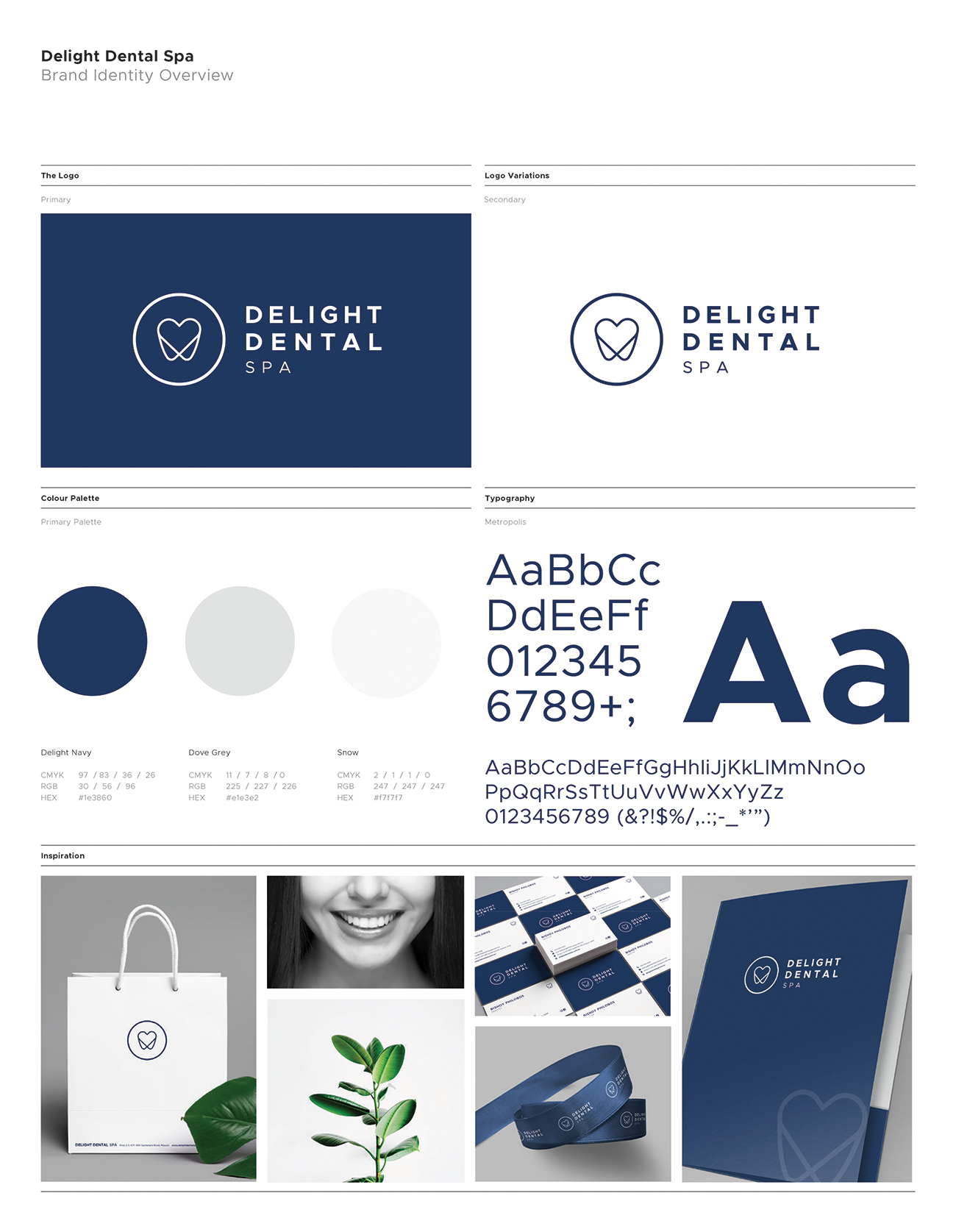 Delight Dental Spa Branding