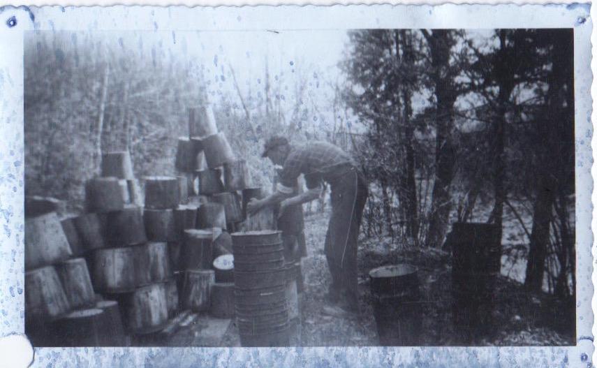 Ernest washing buckets