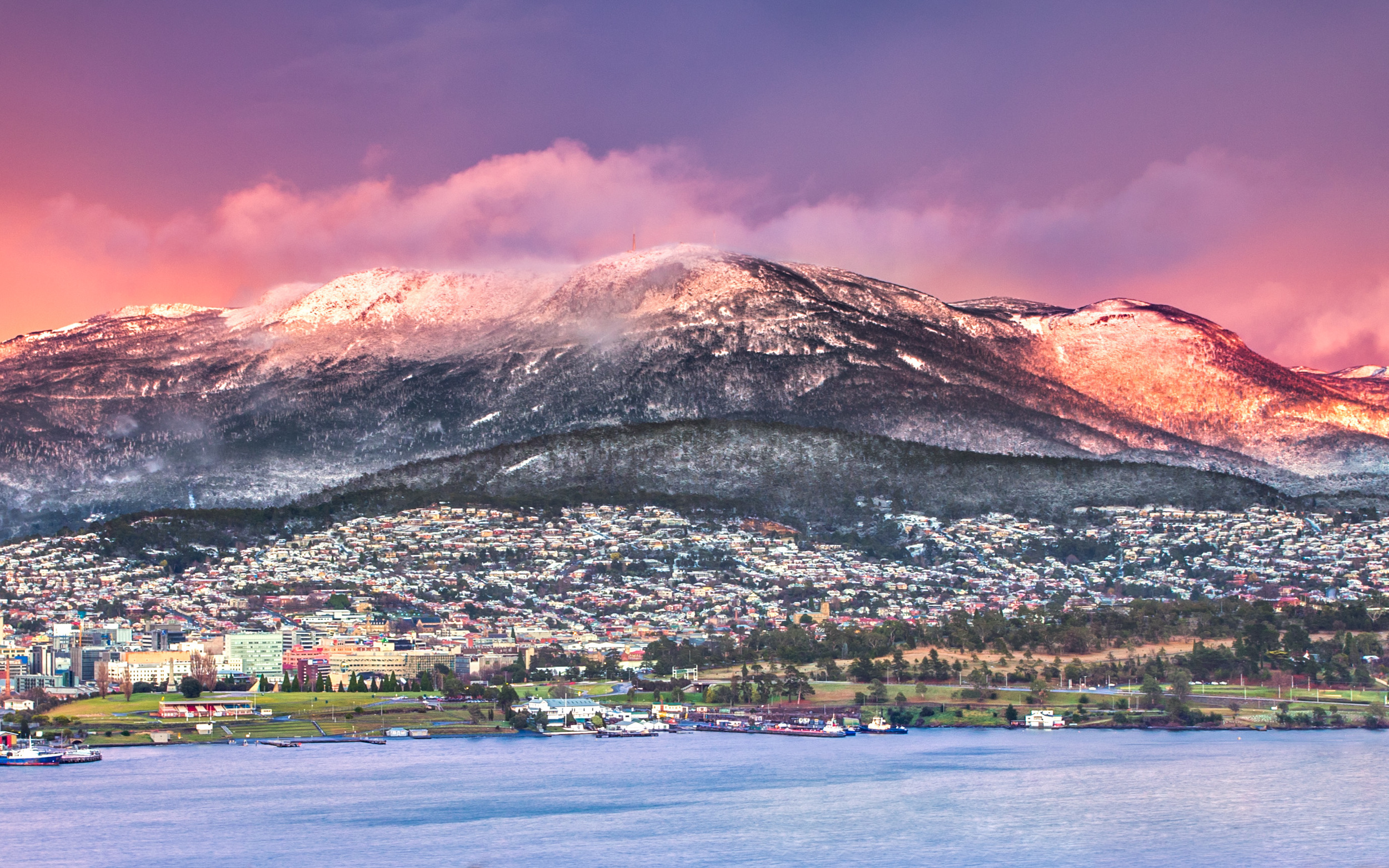 Hobart Snowscape - Cropped