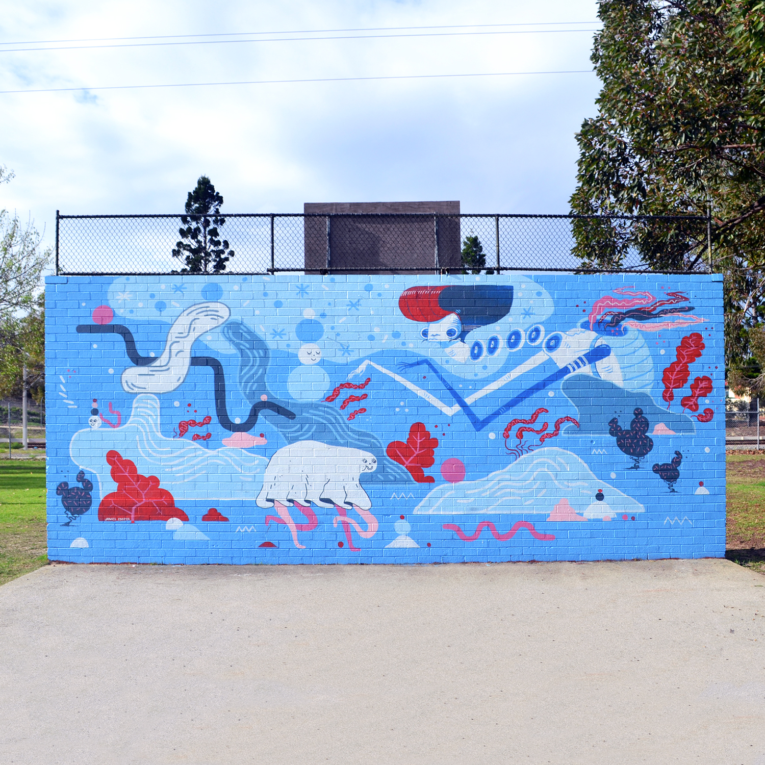 Collaboration with James Cooper. John Bissett Reserve, Victoria Park. Commissioned by Town of Victoria Park.