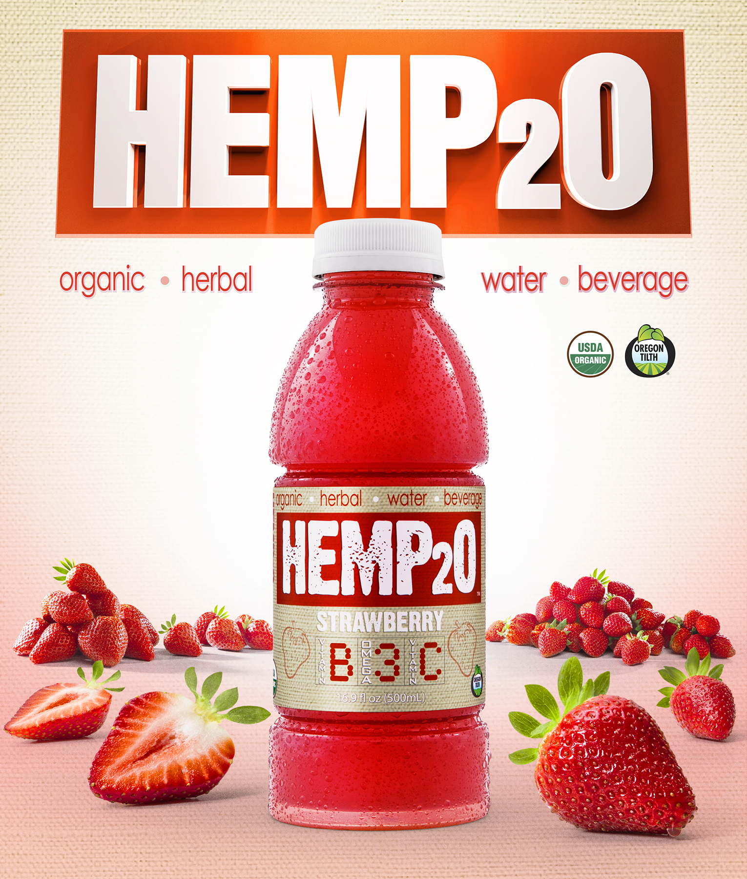 Introducing our latest collaboration with Hemp2o.Hemp2o is made with industrially processed hemp oil. The hemp seed oil used in Hemp2o is bursting with omega-3's. These essential fatty acids provide heart health and anti-inflammatory benefits. Hemp2o is also fortified with B vitamins and vitamin C. It contains 100% of the RDA of B3, B6 and B12.