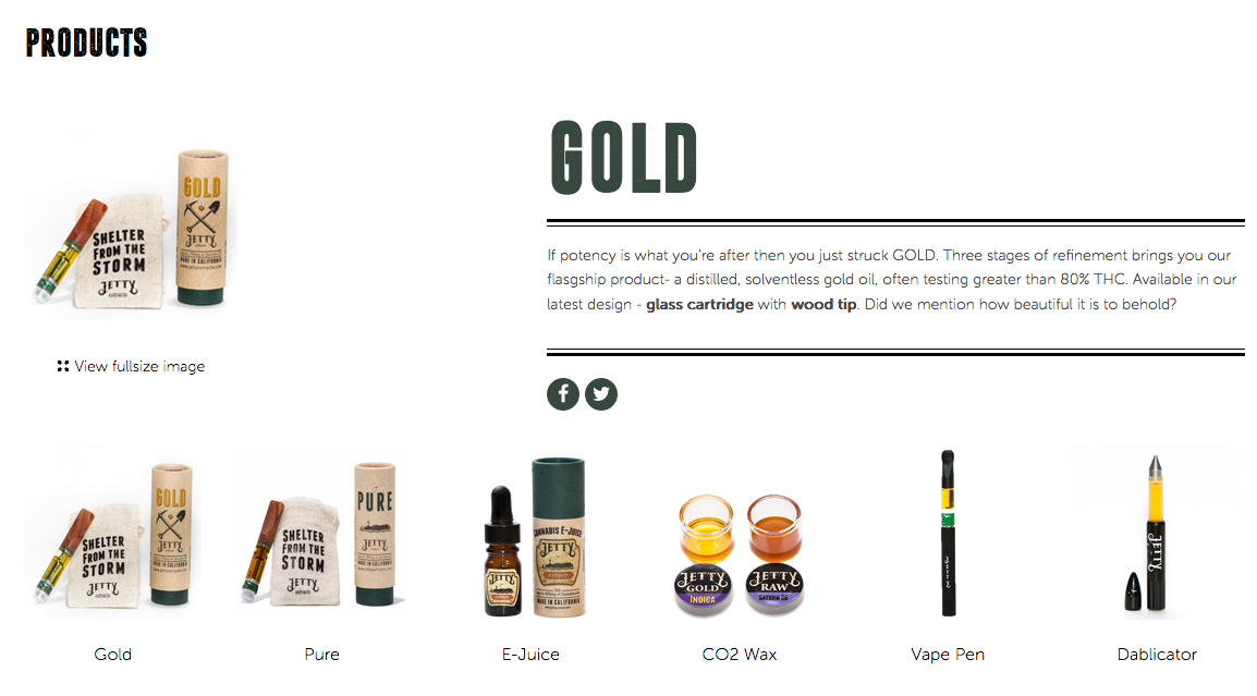 We are proud to announce that we finally carry Jetty Extracts Pure and Gold Cartridges, ranging from a variety of flavors. Check out our menu and find your the perfect Dablicator or Jetty cartridge to fulfill your needs.