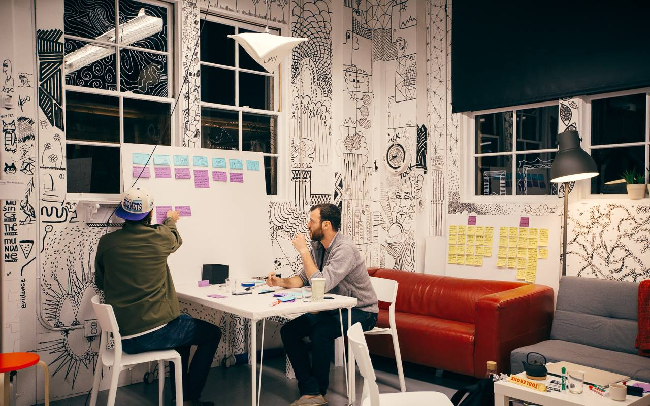The space as how it is currently. People work, chill and get inspired in the midst of the mundane!