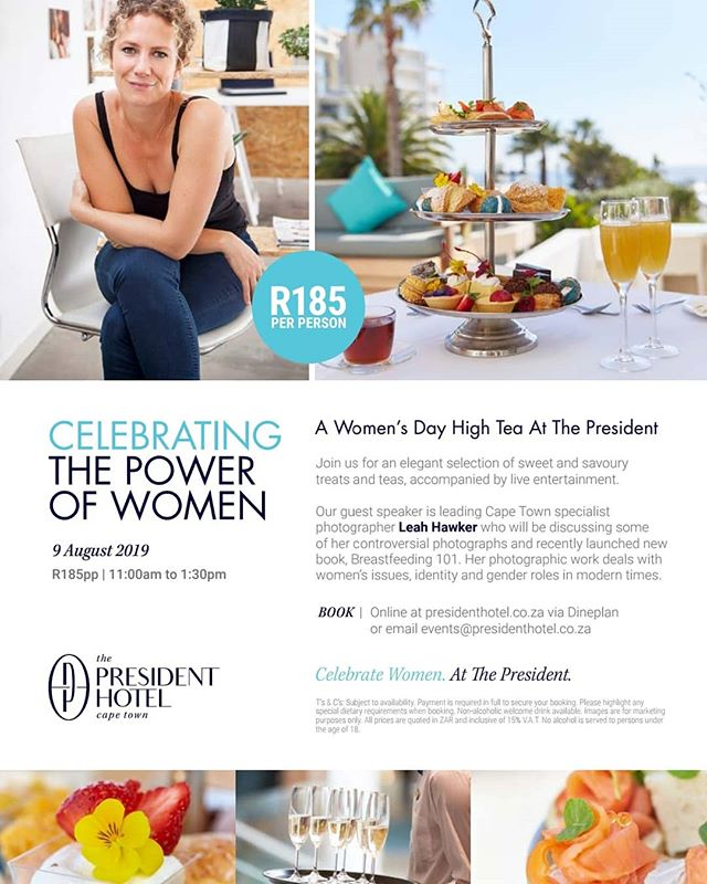 Enjoy a complimentary glass of Sophie Te Blanche or Rosé @thepresidentct #WomensDay High Tea this friday