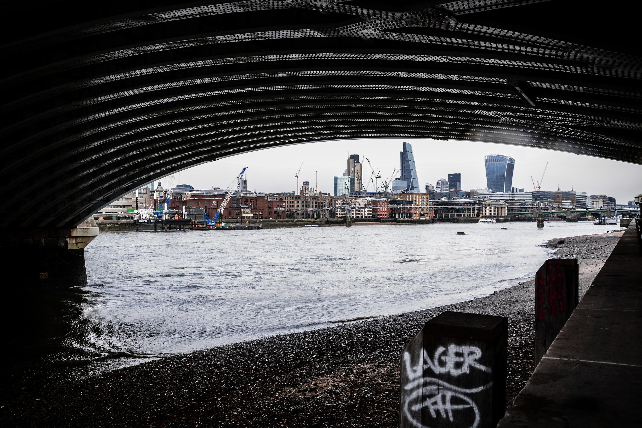 the bridge and the skyline
