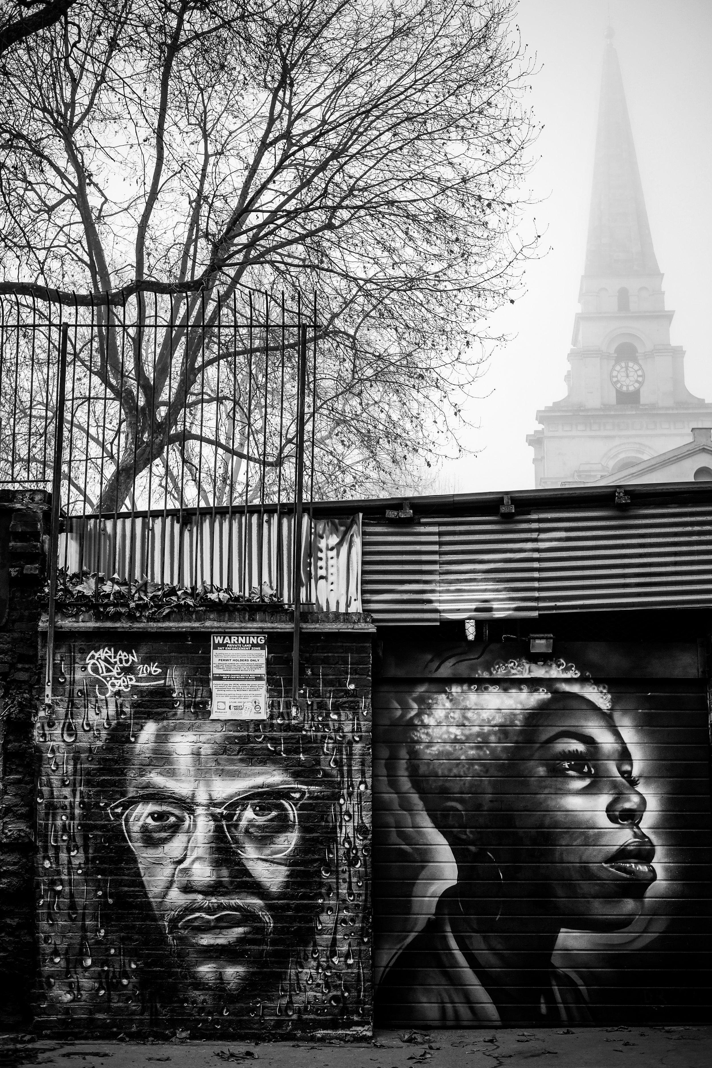 Murals just off Brick Lane