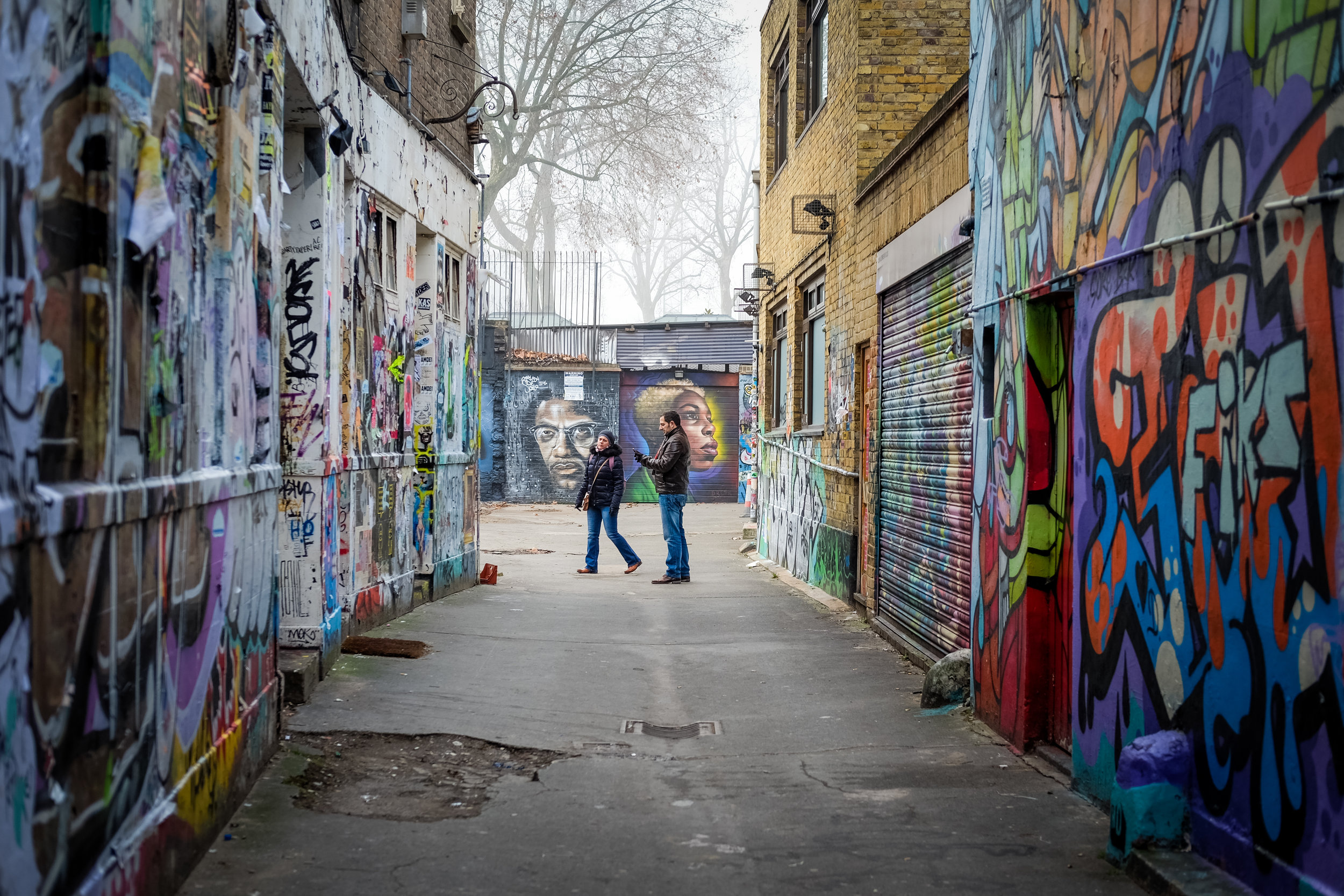 Alleyway of urban art