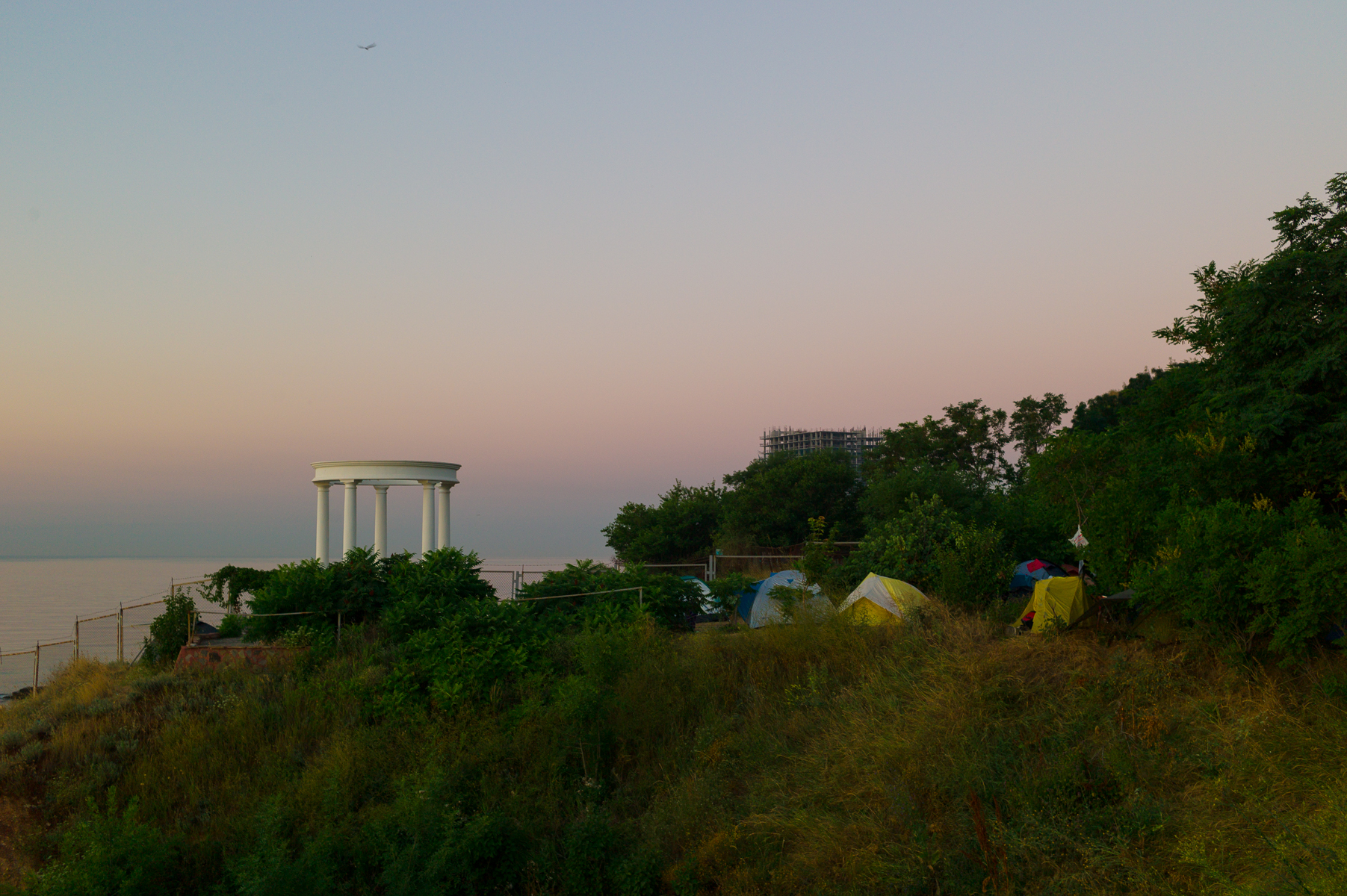 Campsite in Odessa. June 14
