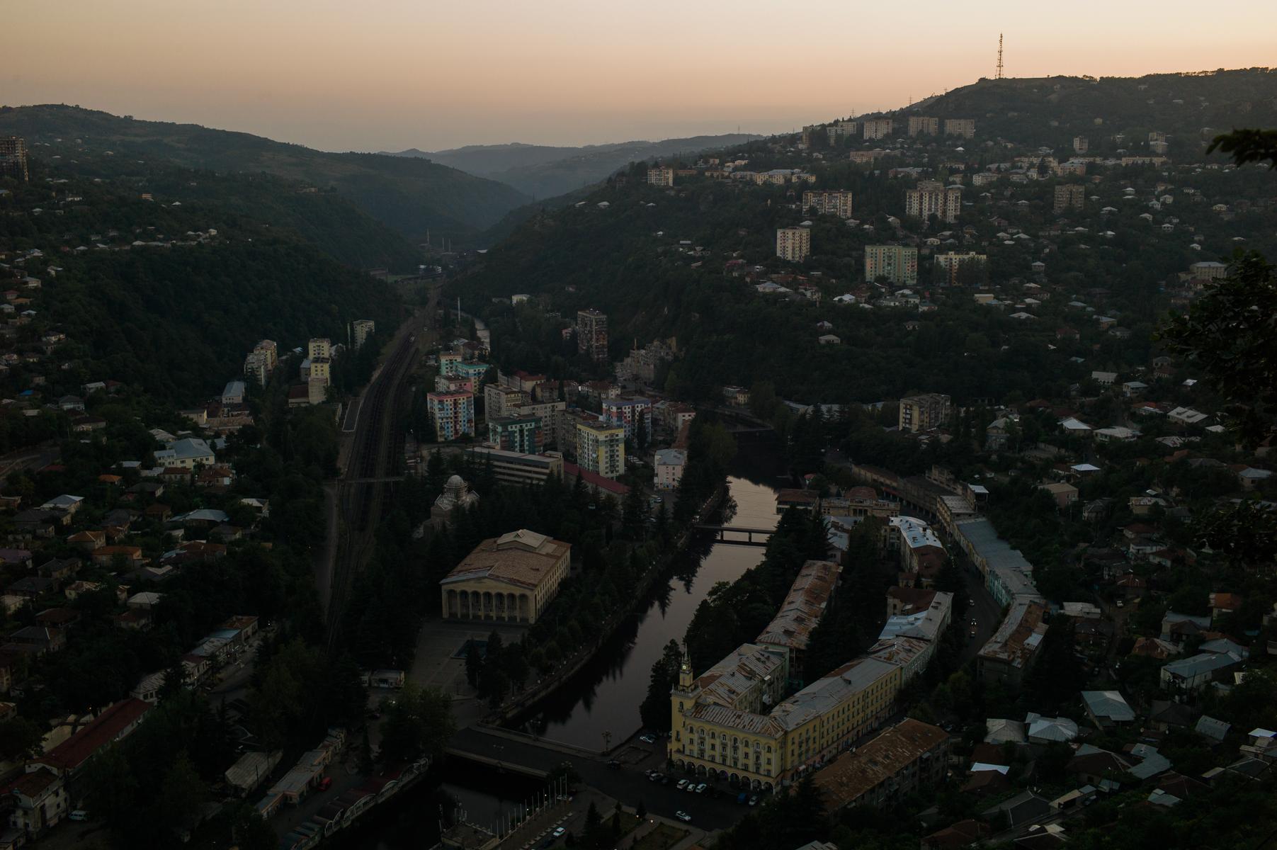 Blick von der Bergstation der letzten Seilbahn.