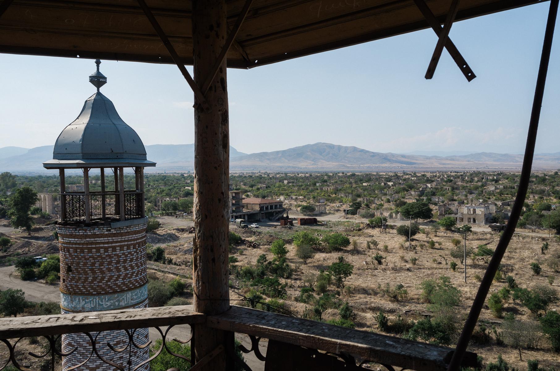 Aussicht vom noerdlichen Minarett der Moschee von Agdam.