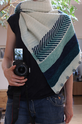 Katharina 's beautiful Om shawl!