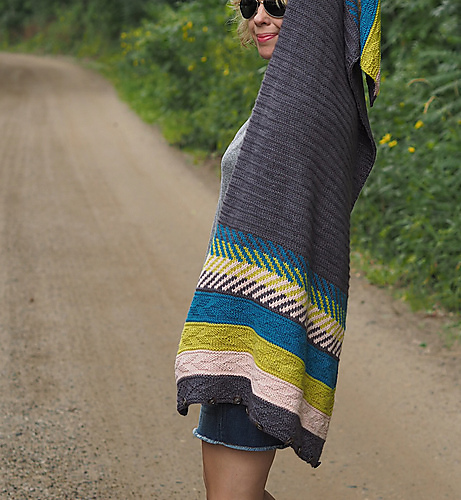 Julie 's Plucky Knitter Om Shawl is beautifully unique!