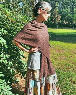 Beautiful Yoga shawl by  ARockandaTree  using yarn she dyed herself!