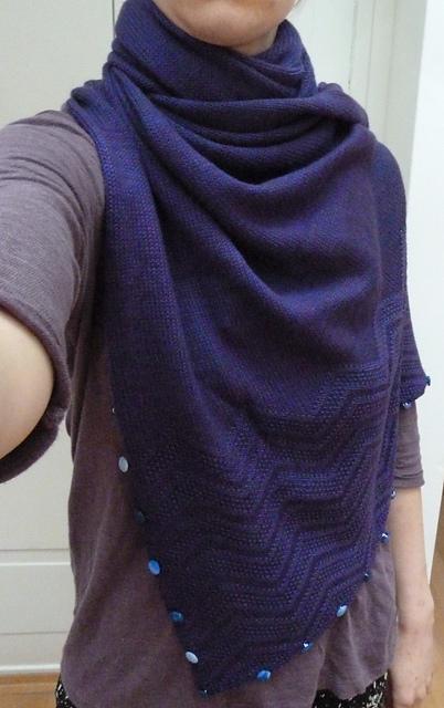 Katharina  also knit up a Yoga Shawl!