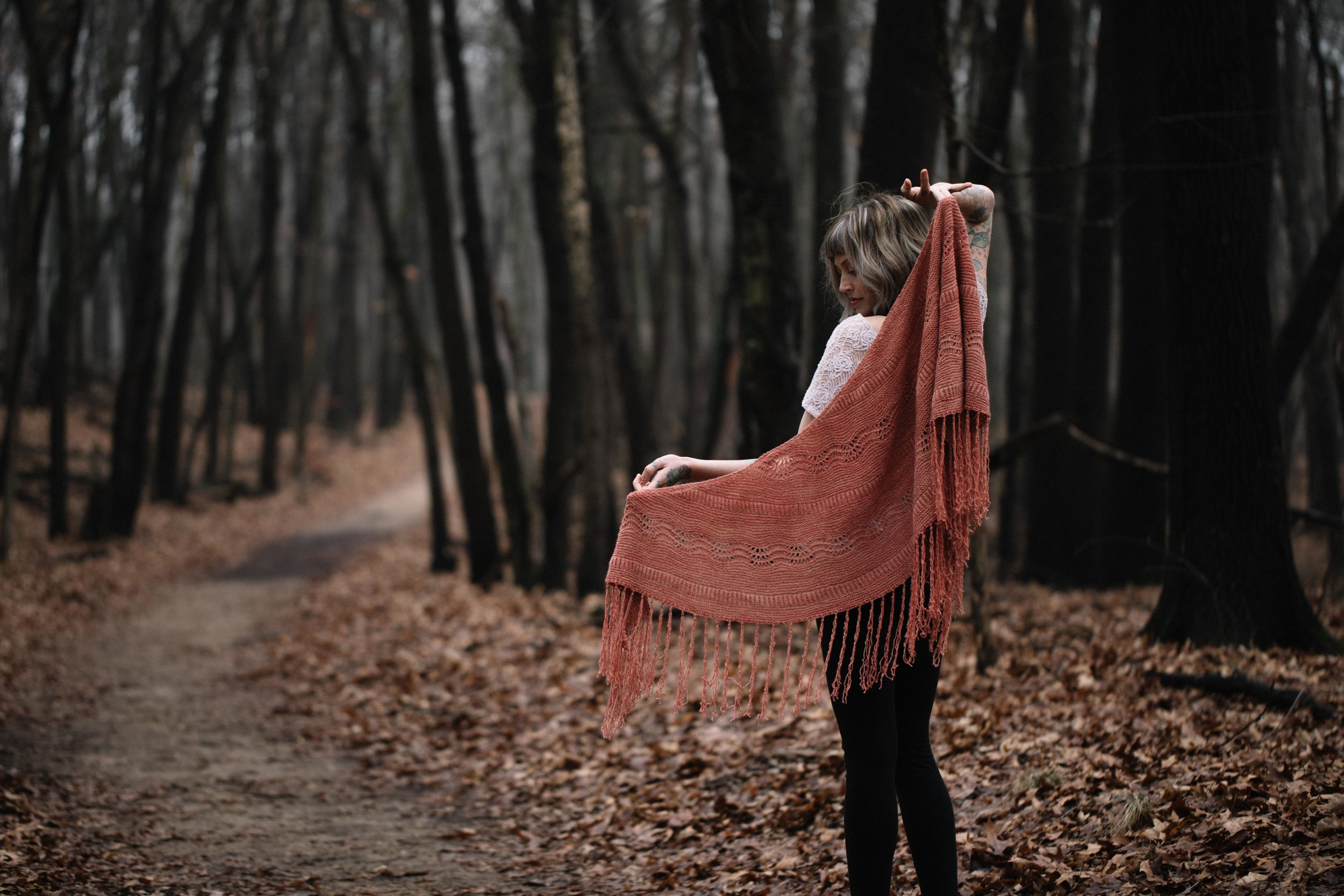 Boho Blush Shawl