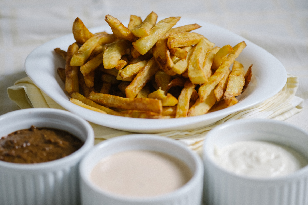 Belgian fries made at home