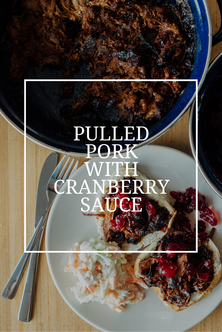 Pulled pork with cranberry sauce