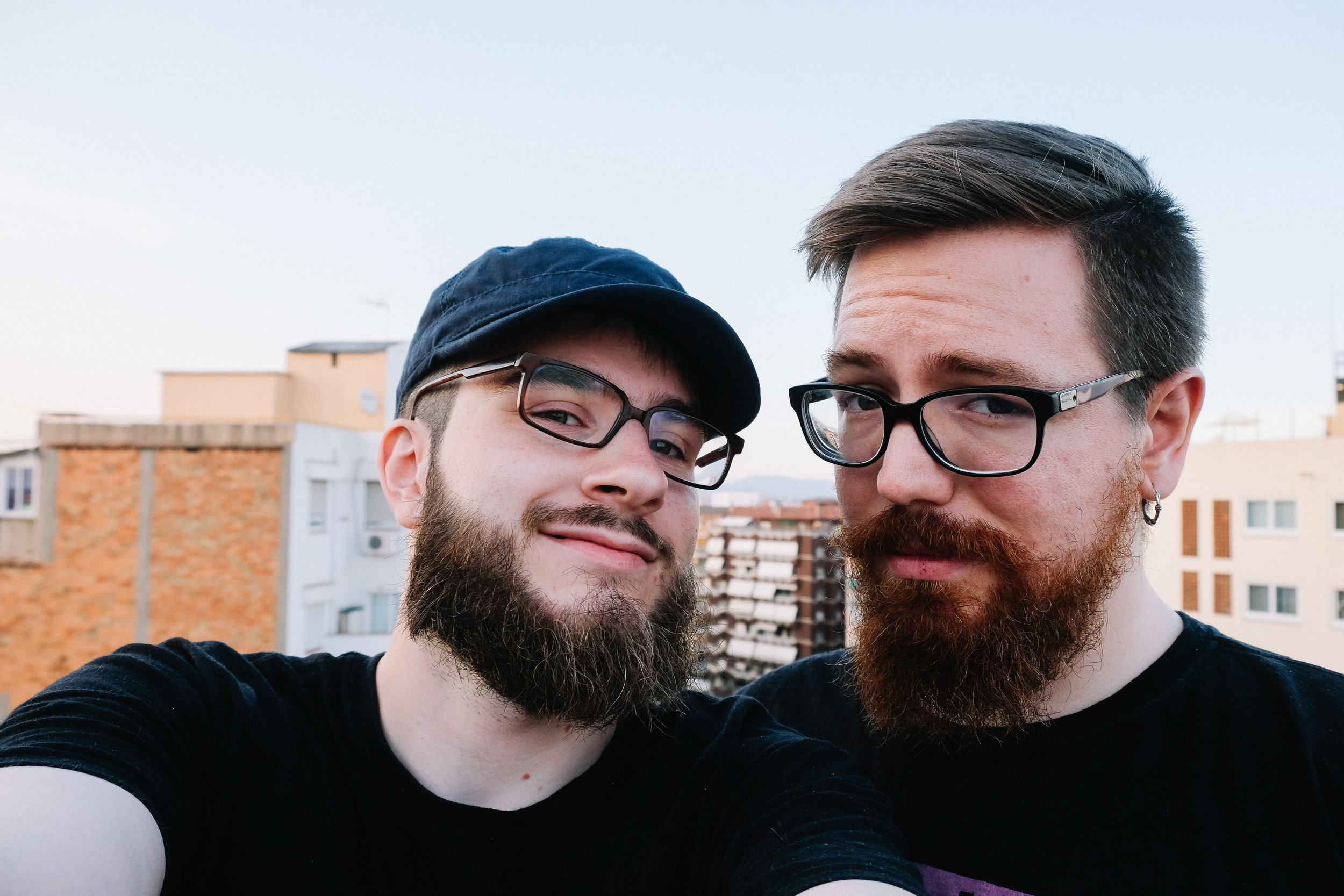 Well, they say that gay boyfriends do look alike. :) Hubby and I, June 2017.