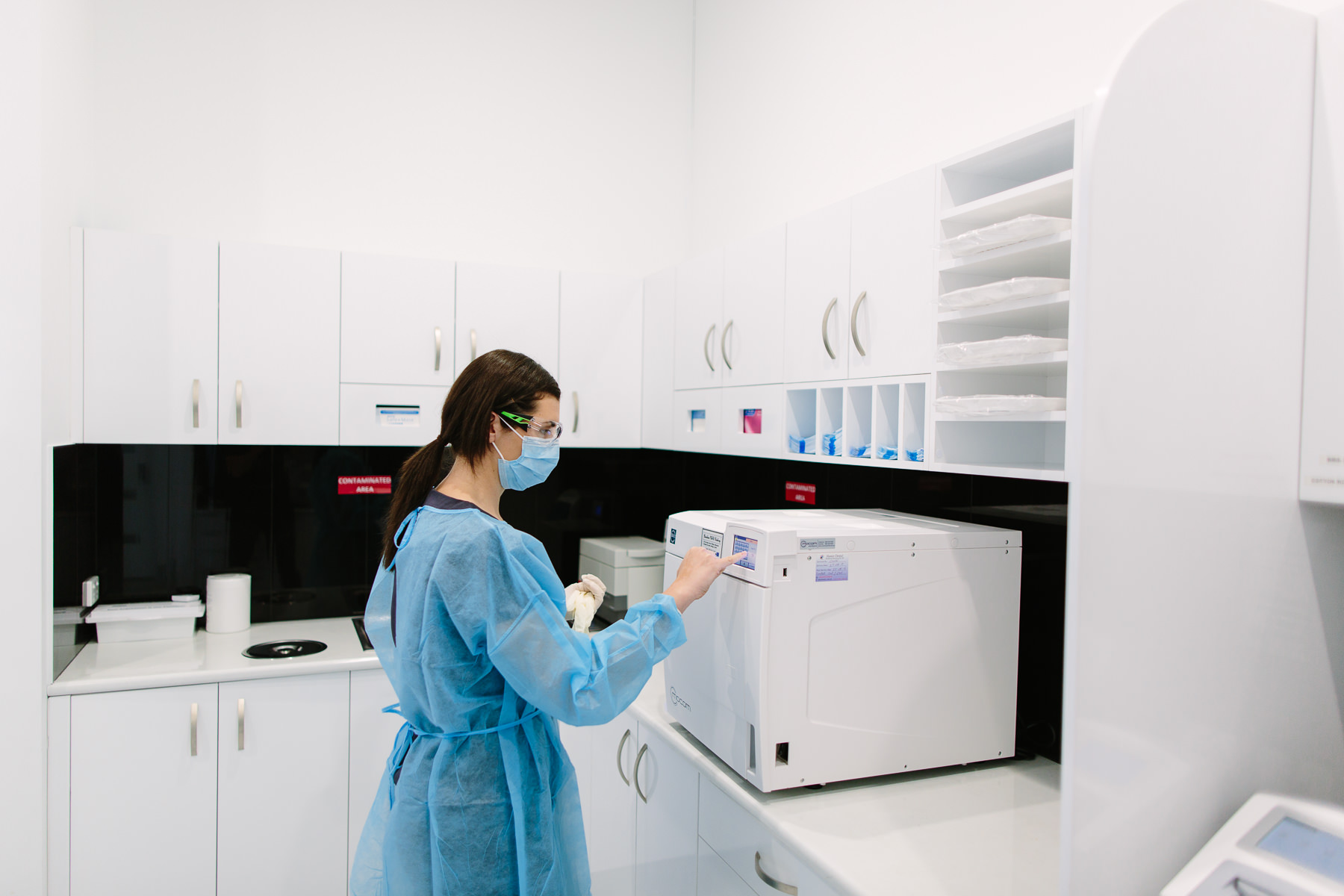Our sterilisation bay where each instrument goes through a stringent process to ensure the safety and health of our patients