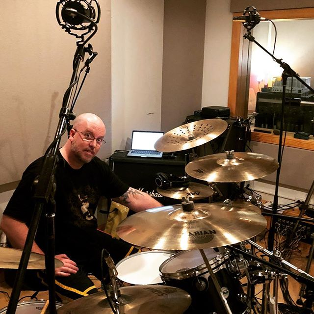The incomparable Clayton Gore getting it done at New constellation for the @pulchramortemetal album