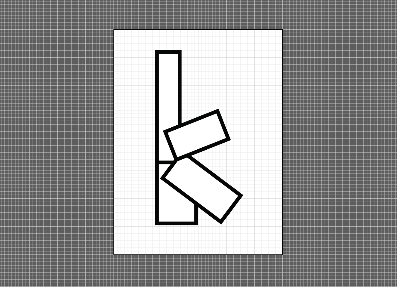 "glyph ""k"" from original typeface entitled: component, 2015"