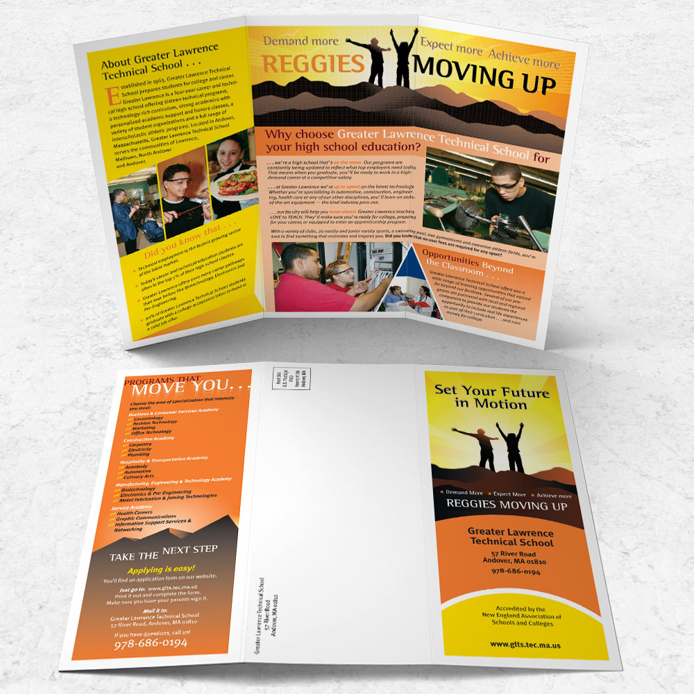 """Promotional Brochure, 8.5"""" x 11"""" trifold"""
