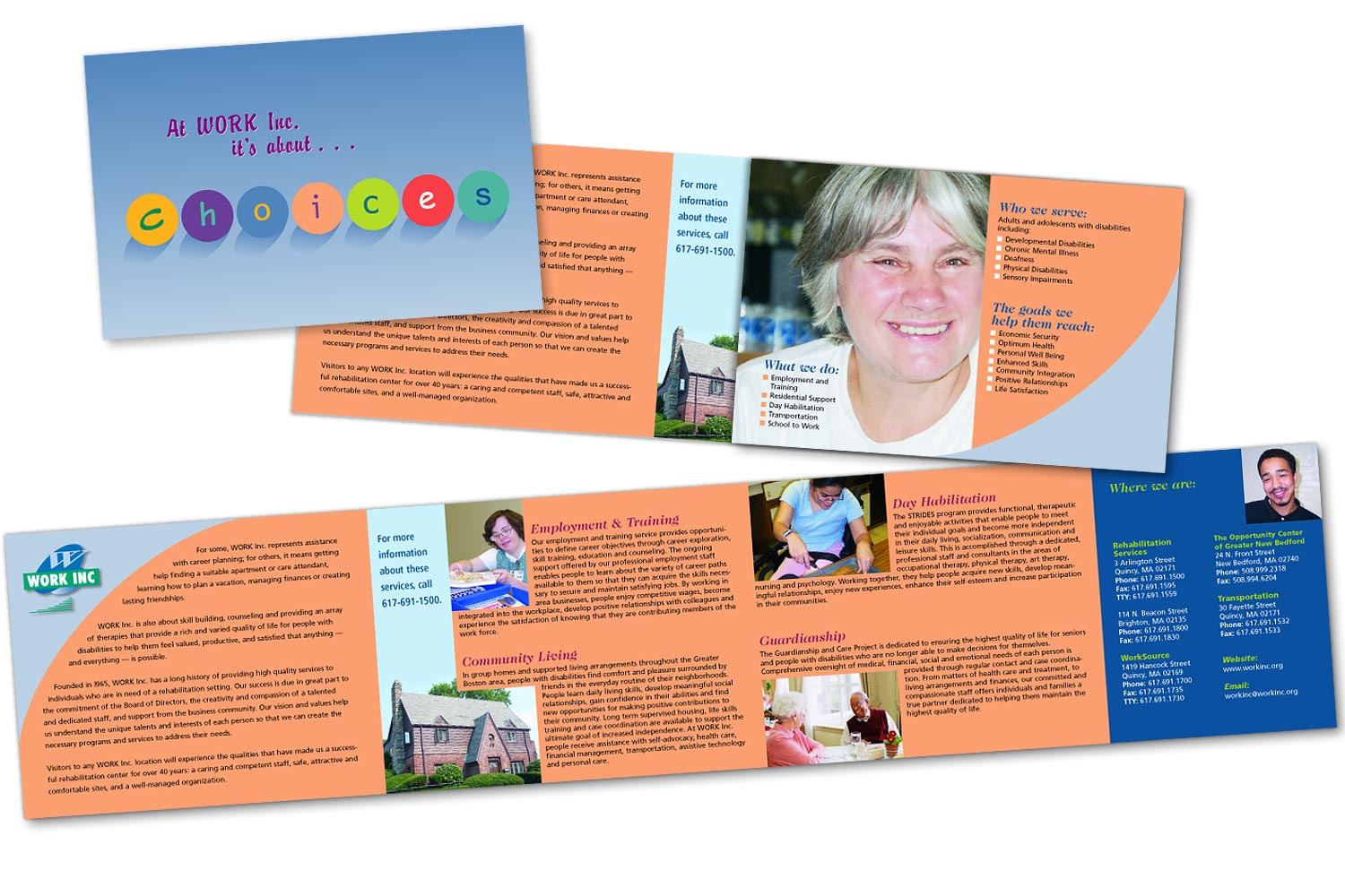"""Promotional Brochure, 25.5"""" x 5.5"""" trifold"""