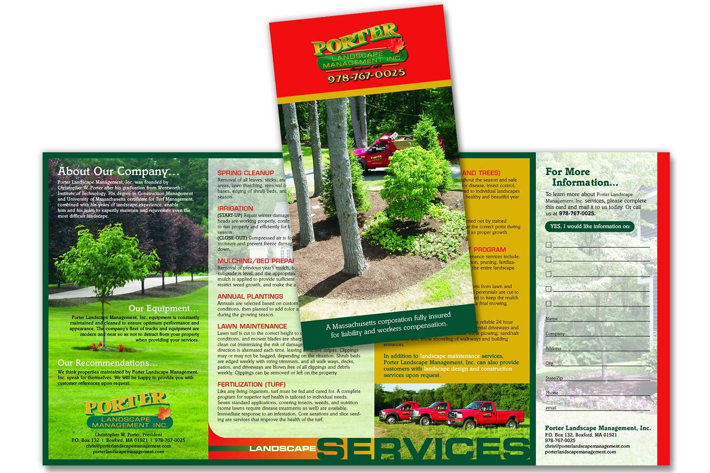 """Sales Brochure, 8.5"""" x 17"""" quadfold"""