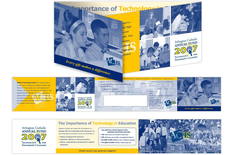 "Annual Fundraiser Brochure, 21.5"" x 3.5"""