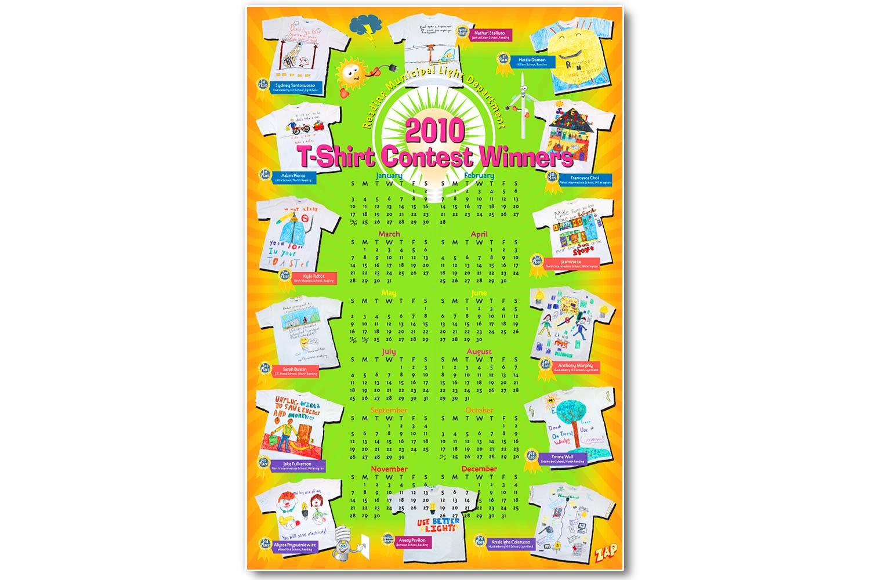 "School Children's Green Energy Calendar, 24"" x 36"""