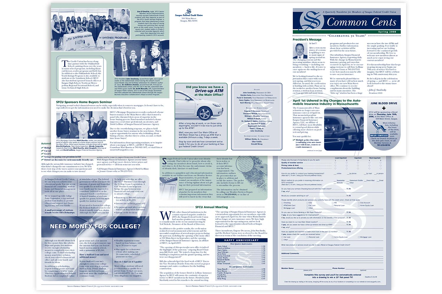 """Newsletter, 8.5"""" x 25.5"""" trifold"""
