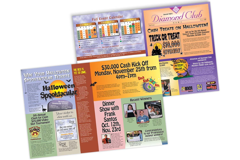 """""""Diamond Club"""" Fall Newsletter, 17"""" x 8.5"""" bifold"""