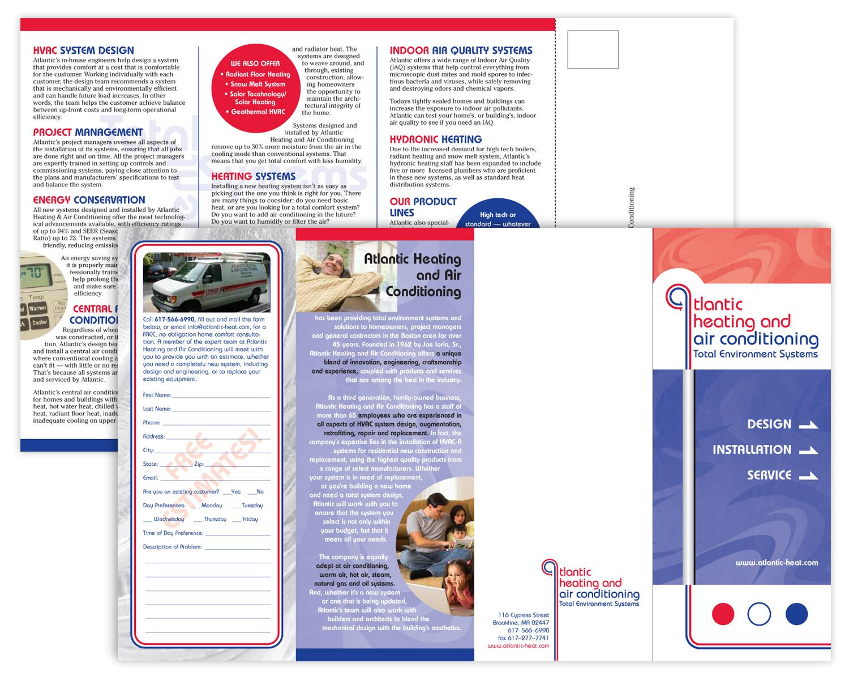 """Sales Brochure, 17"""" x 8.5"""" quadfold"""