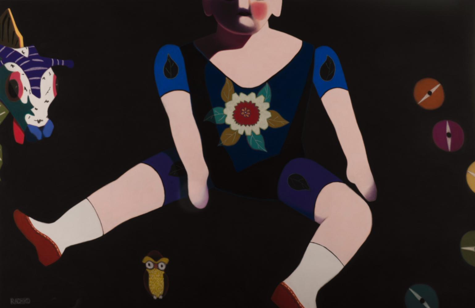 """Incognito""  Soft Pastel on Sandpaper 38"" x 58"" image 50"" x 70"" framed 2014"