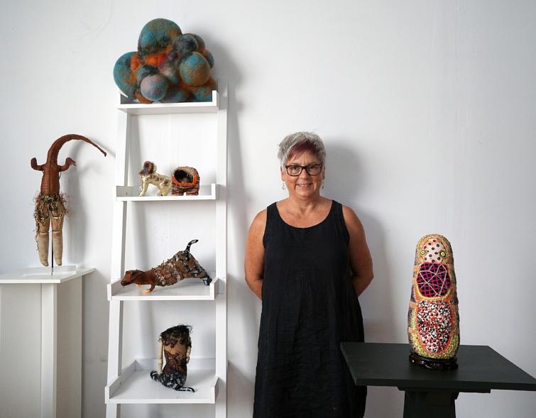 Jodi Colella in her studio