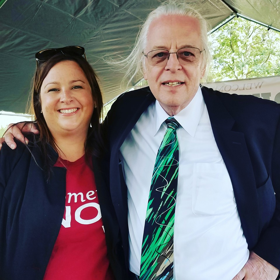 Beth with Keith Stroup, founder of  NORML  at the Boston Freedom Rally, 2016