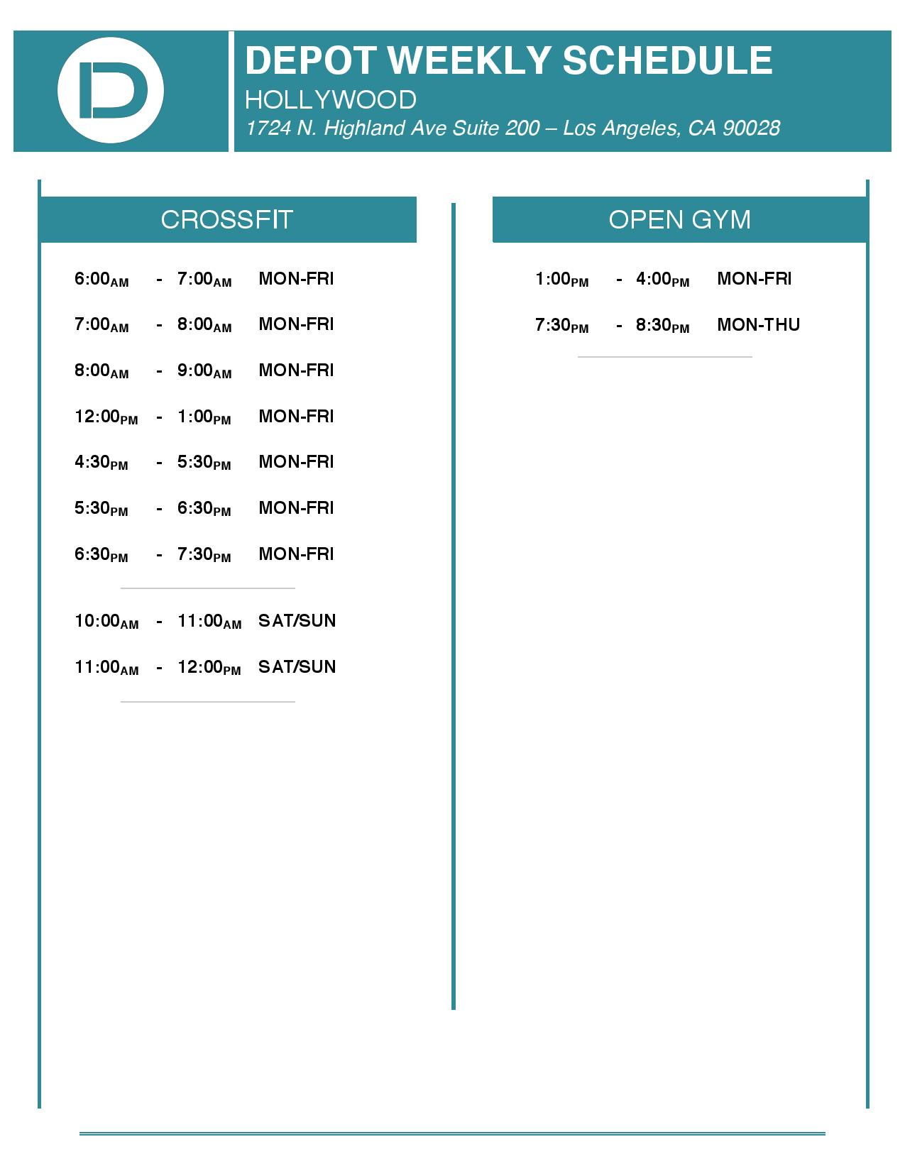 Depot Schedule - Hollywood.jpg