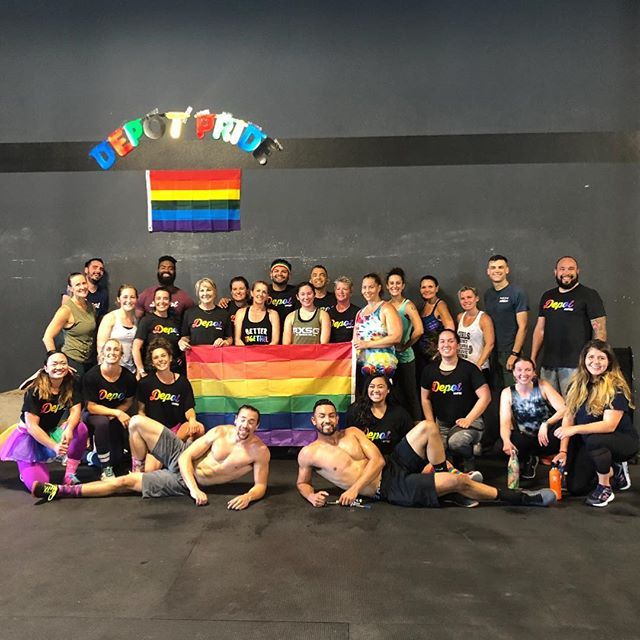 We're so excited to be hosting our Depot Pride WOD for a 2nd year! Make sure to pre-order your 2019 Depot Pride shirt by May 14th to sport on June 8th (link in Wodify)👕🌈❤️