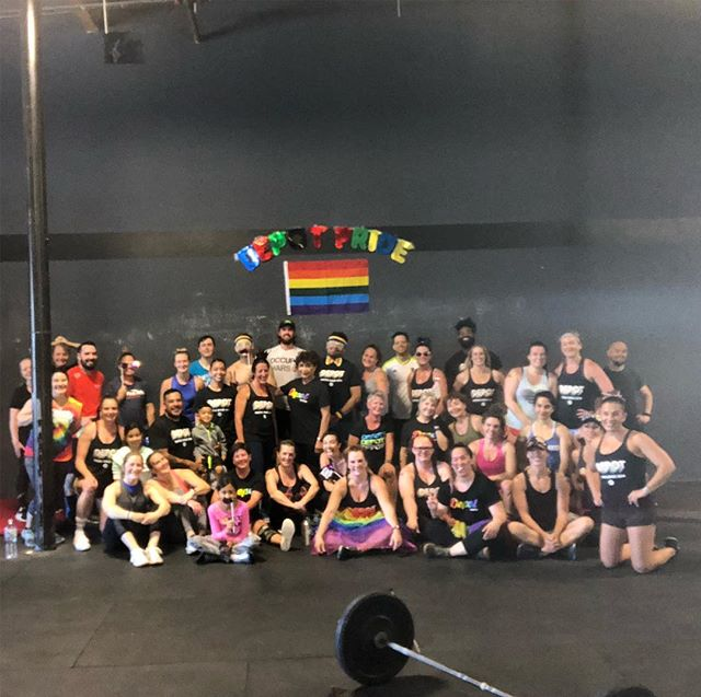 so much PRIDE!! 🌈  thanks to everyone who made it to our Pride Workout. we are blessed to have such an amazing community that always supports & builds eachother up 💪🏽❤️🧡💛💚💙💜 #sorrythispictureissoshitty