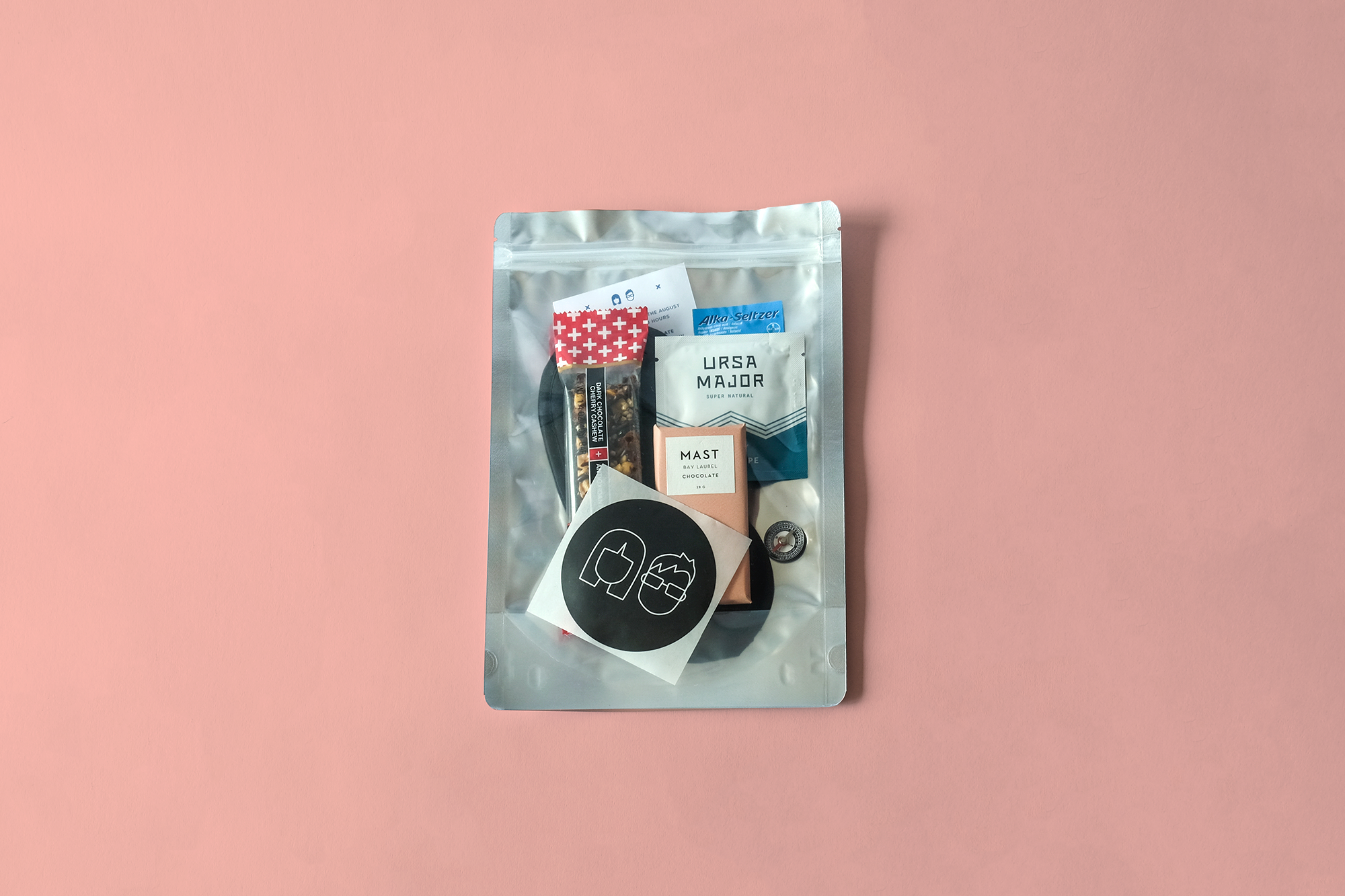 """Gift bags are also a """"survival bags"""" to help our guests cope with traveling, partying and longer daylight in Iceland."""