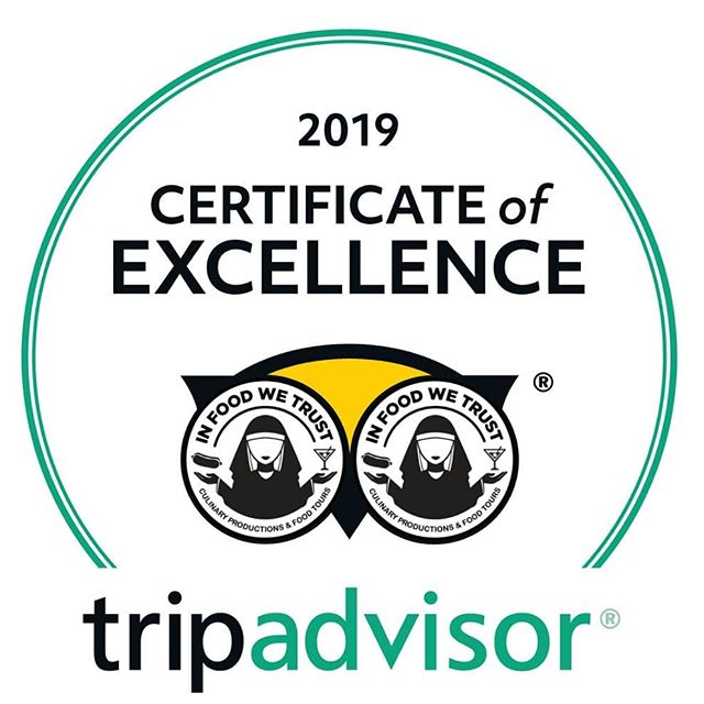 """⚠️⚠️⚠️ Disclaimer: Dear @tripadvisor legal department, pls 🙏🙏🙏 don't sue us for #TrademarkInfringement ⭐⭐⭐⭐⭐ This is the time of the year when @tripadvisor travel community awards us (once again!) the Annual #CertificateofExcellence!  We feel humbled by our guests' vast support! In times when everybody's so busy with 💯s stuff in our heads, they returned 🏡, logged in their computer 🖥️ and crafted a raving 📝 for their experience with @infoodwetrust.nyc. If that's not 💓, then what is?  Do you think it helps that we NEVER treat them as """"clients""""? Of course not 🙅🙅♂️! They are our precious guests and future friends!"""