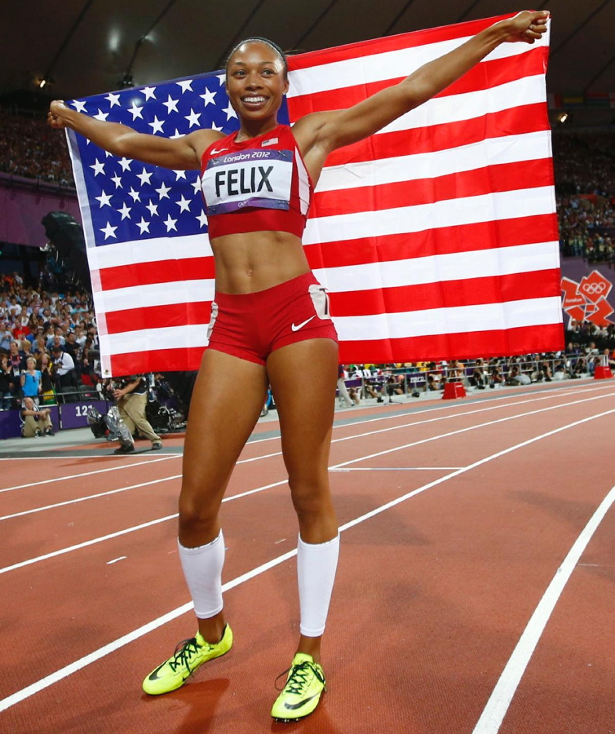 Allyson Felix at the London Olympic Games in 2012