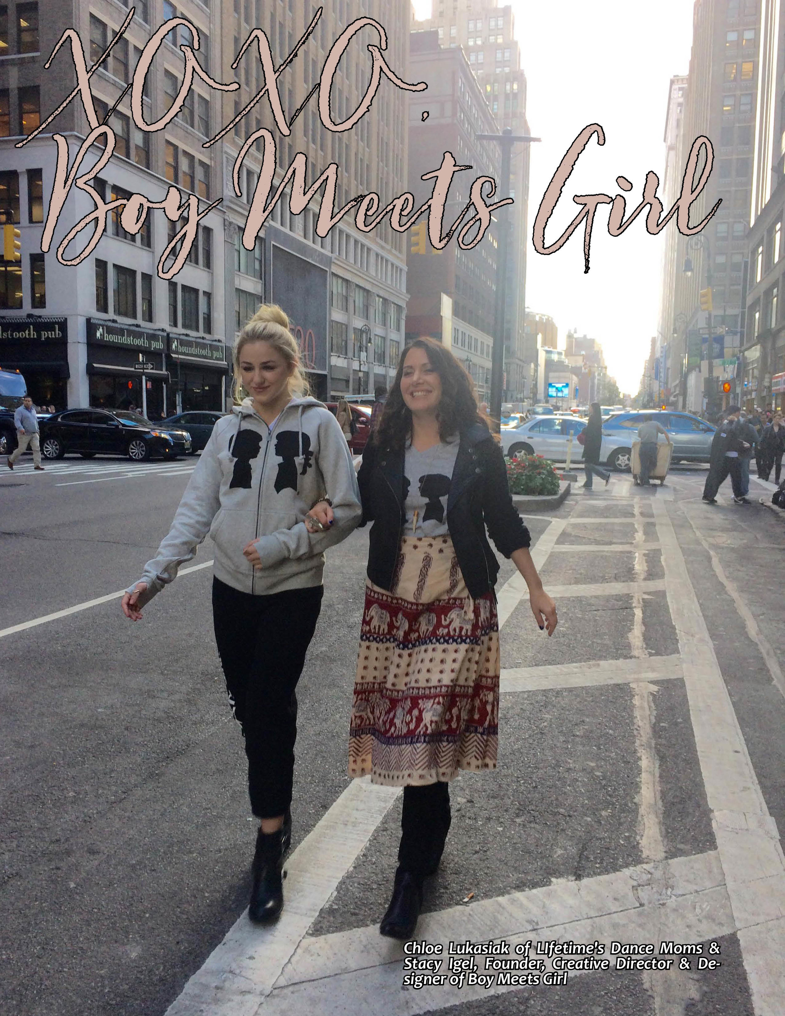 Chloe Lukasiak  of  Lifetime's Dance Moms  walks with Founder/Creative Director, and Designer of  Boy Meets Girl  -  Stacy Igel