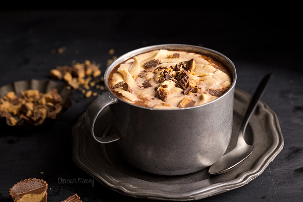 It's chilly temperatures that make you excited for a bit of comfort food. We're sharing this Hot Peanut Butter Chocolate recipe that is perfect to enjoy courtesy of  Chocolate Moosey . For a little twist, we suggest making it your favorite adult beverage.
