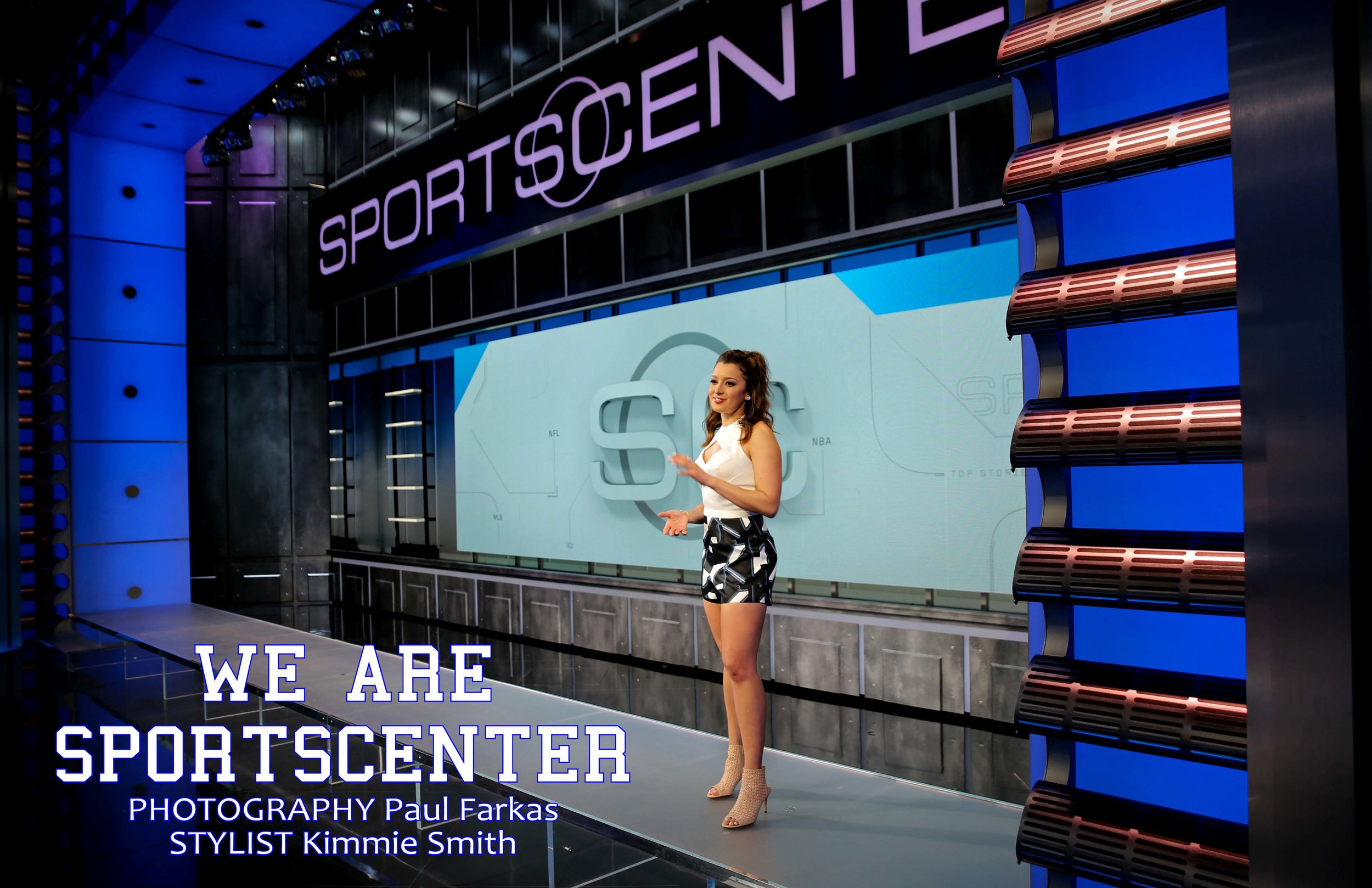 SHOT @ ESPN  in Bristol CT |  PHOTOGRAPHY  Paul Farkas |  STYLIST  Kimmie Smith |