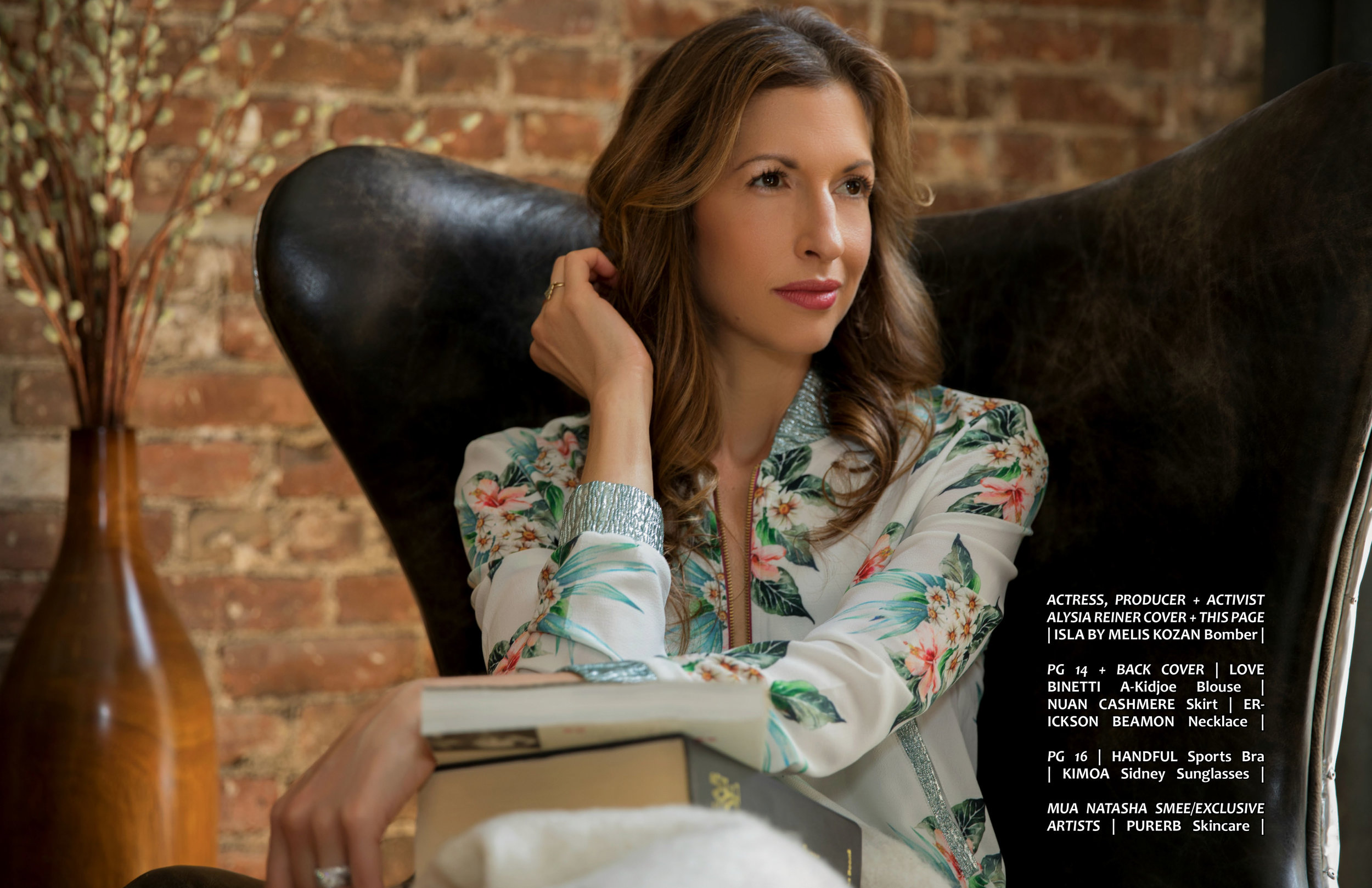 ATHLEISURE MAG JUN ISSUE WITH OUR CELEB COVER, ALYSIA REINER OF NETFLIX'S ORANGE IS THE NEW BLACK