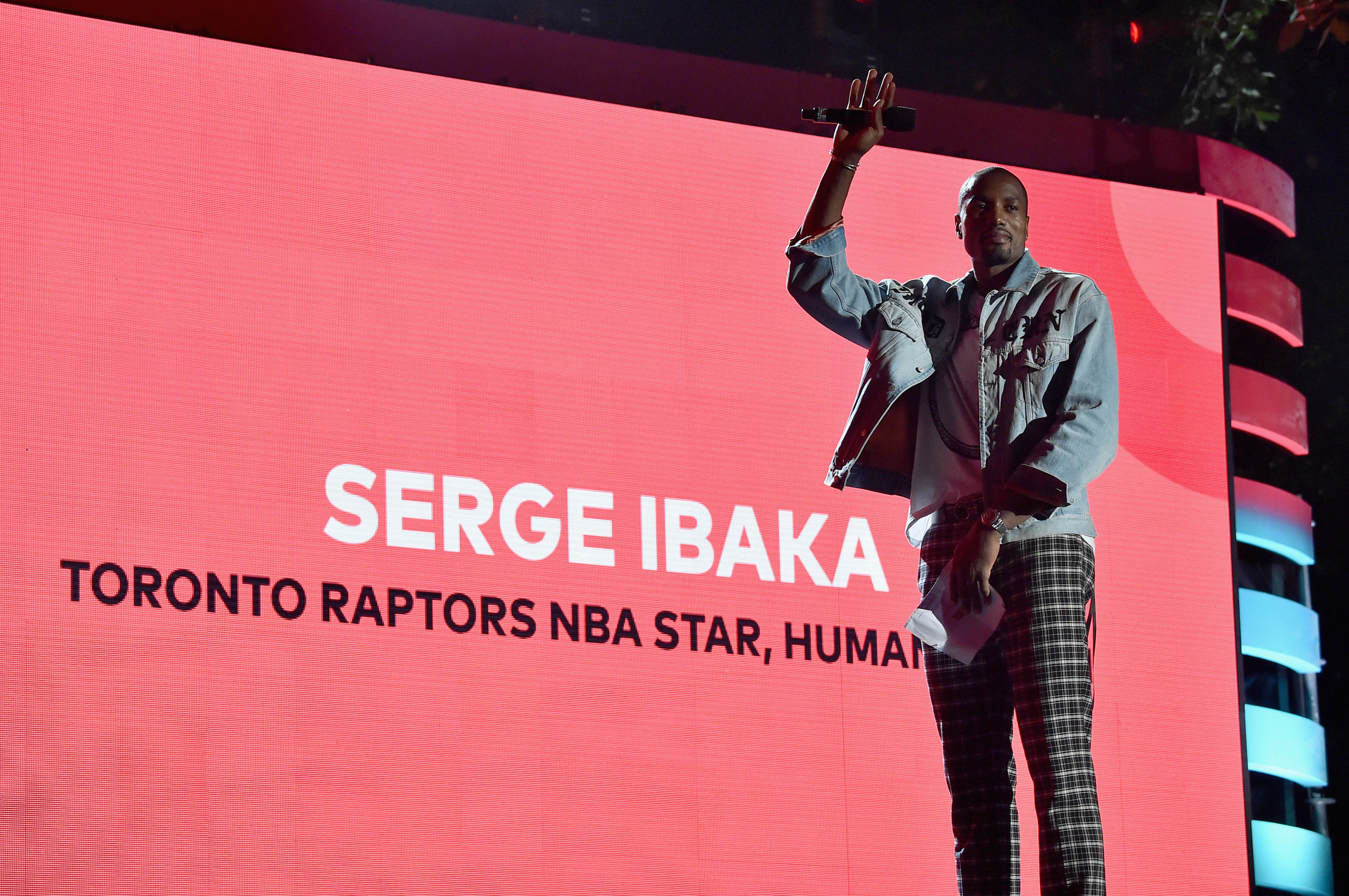 | PHOTOGRAPHY Theo Wargo/Getty Images for Global Citizen - Toronto Raptors, Serge Ibaka |