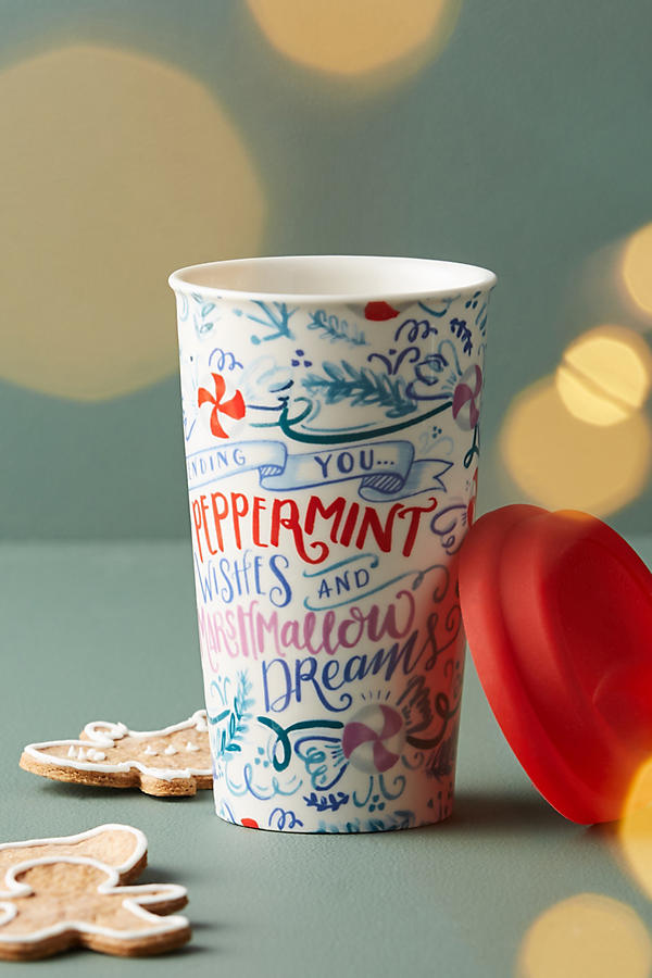 ANTHROPOLOGIE - A travel mug is a must to stay warm and to fill it at your favorite spot - we suggest Starbuck's